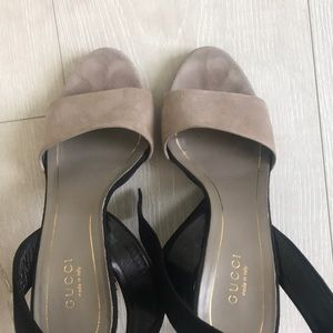 Gucci Shoes - Gucci grey & black sued shoes for sale